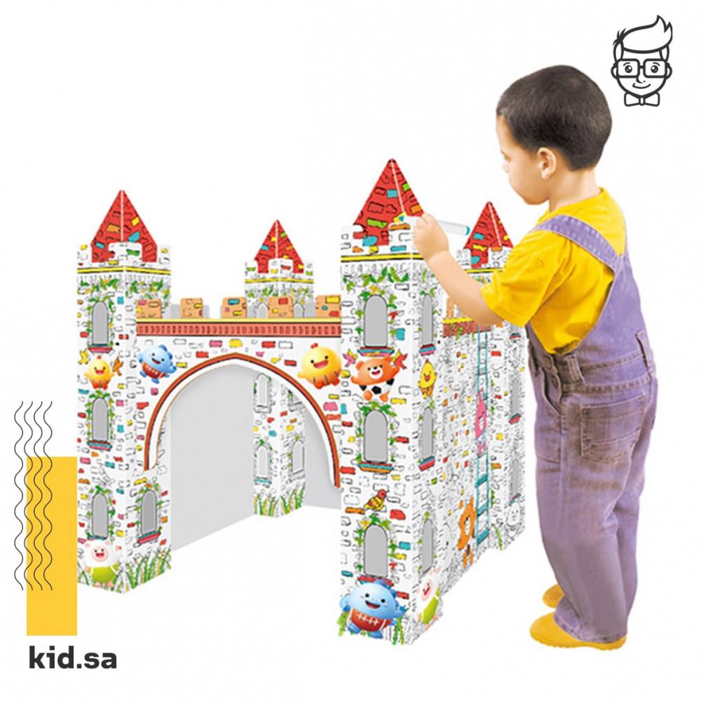 تركيب وتلوين قلعة العاب تعليم اطفال الالوان