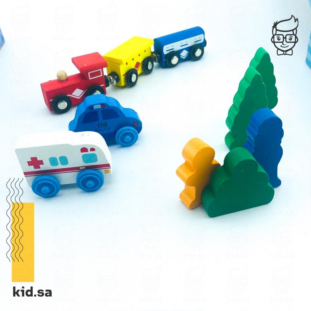 لعبة القطار والمدينة من ألعاب سيارات للأطفال