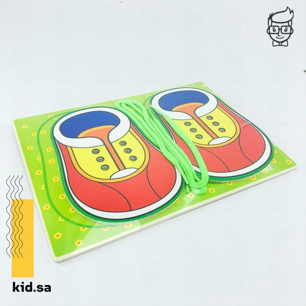 ألعاب تعليم ربط الحذاء