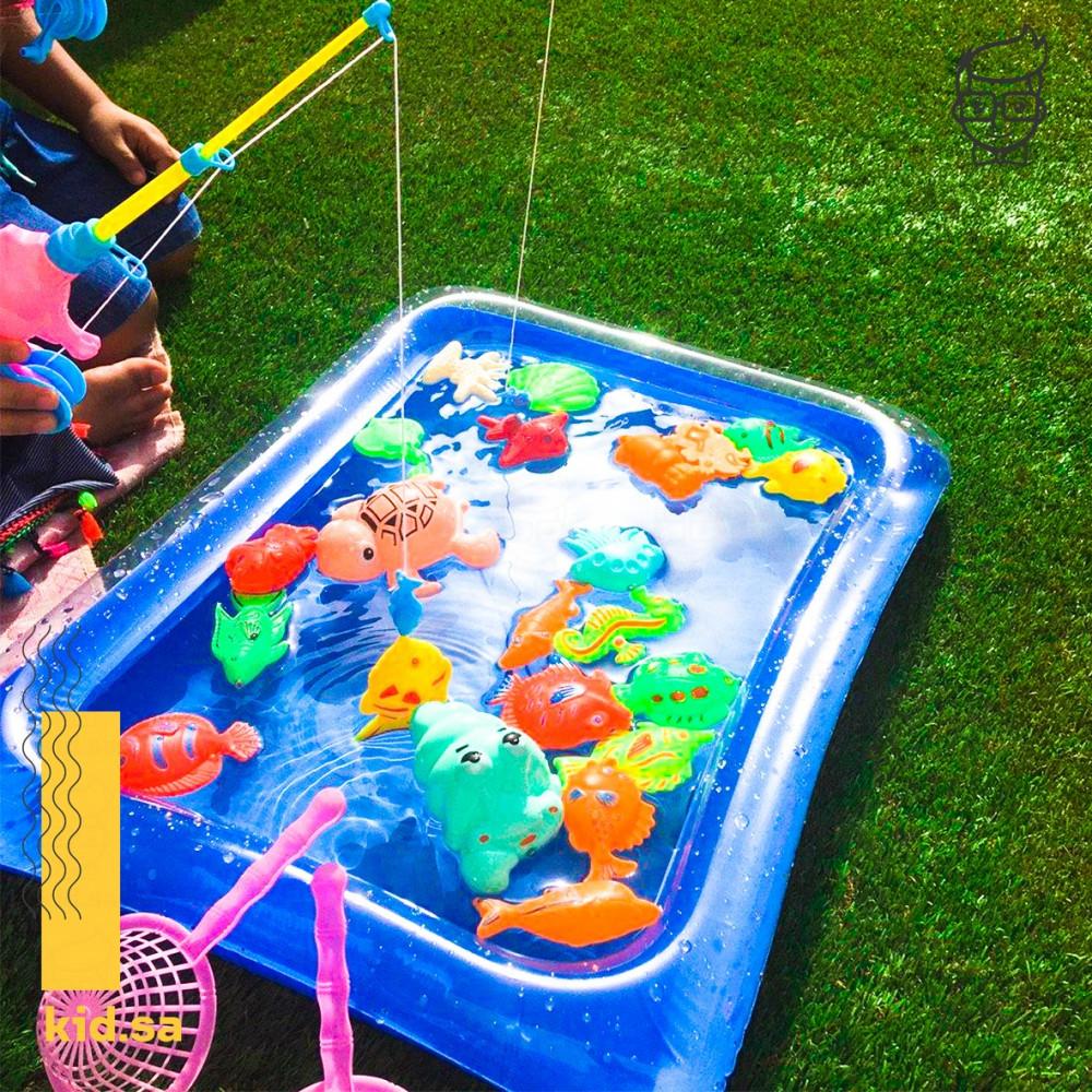 لعبة صيد الاسماك من العاب جماعية للاطفال