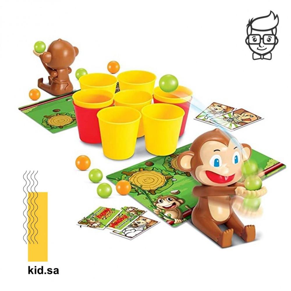 لعبة كرات المرح مع القردة من أفكار ألعاب العيد للاطفال
